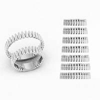 Кольцо мужское серебряное Пули