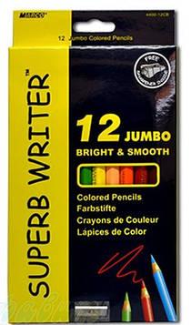 Карандаши цветные Marco Superb Writer 4400-12цв Jumbo