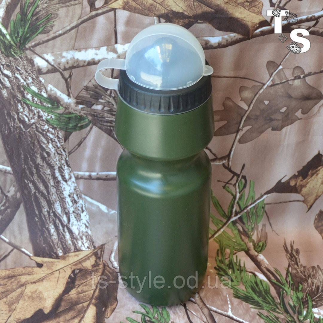 Милтек фляга с клапаном 0,5 л олива
