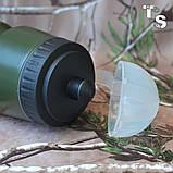 Милтек фляга с клапаном 0,5 л олива, фото 2