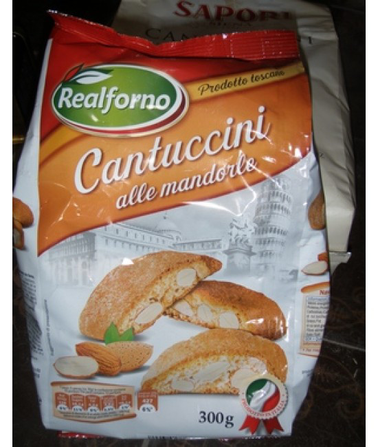 Печенье Сantuccini Realforno с миндалем 300гр