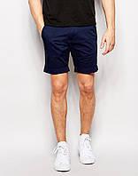 Модные шорты чинос мужские  Тёмно-синий,  Размер S
