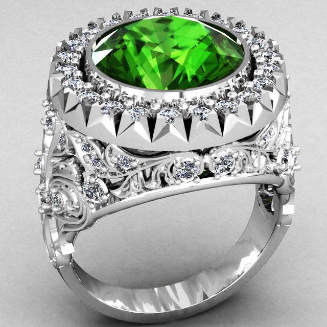 Кольцо мужское серебряное Корона Владыки