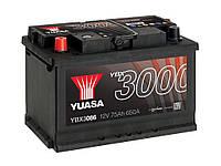 Автомобильный аккумулятор Yuasa YBX 3086 75Ач 650А (1) L