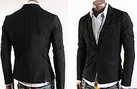 Приталенный мужской пиджак на одной пуговице  Размер M