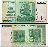 Зимбабве 1000000000 доларов 2008 год UNC