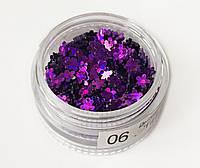 Цветочки-блесточки - 06 фиолетовый