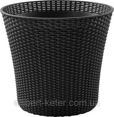 Квітковий горщик CONIC PLANTER 56,5 L графіт (Keter)