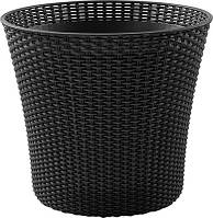Квітковий горщик CONIC PLANTER 56,5 L графіт (Keter), фото 1