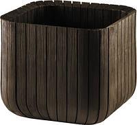 Квітковий горщик CUBE PLANTER L темно-коричневий (Keter), фото 1