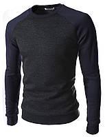 Трикотажный свитшот мужской двухцветный blue