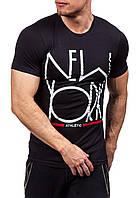 668029c2412f5 Мужская длинная зеленая ассиметричная футболка S. Promo Мужская черная  футболка New York