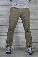 Хлопковые бежевые брюки чинос