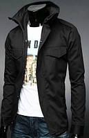Весенняя мужская приталенная коттоновая куртка