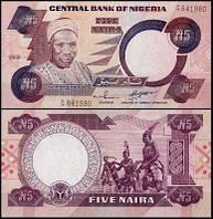 Nigeria Нигерия - 5 Naira 2002 UNC Pick 24g