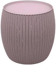 Столик KNIT COZIES TABLE фіолетовий ( Allibert by Keter )