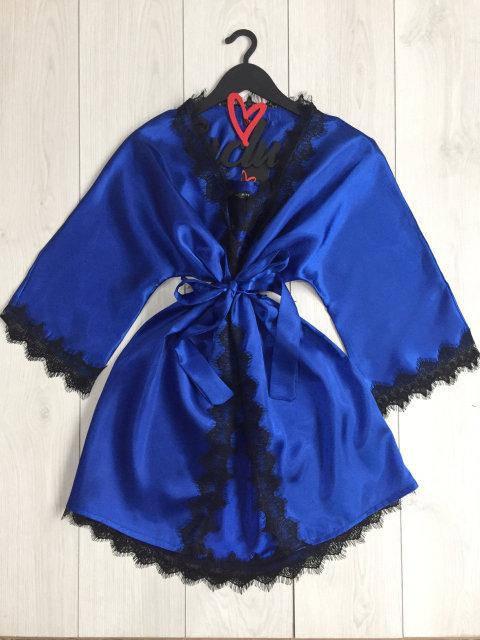 Женский кружевной халат с пеньюаром для дома Exclusive электрик