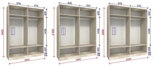 Внутреннее наполнение шкаф-купе Стандарт 2 (фото 3)