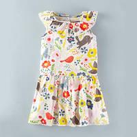 Jumping Beans летнее платье для девочки Birdies. Размер 2 года, 3 года, 4 года, 5 лет, 6 лет, 7 лет