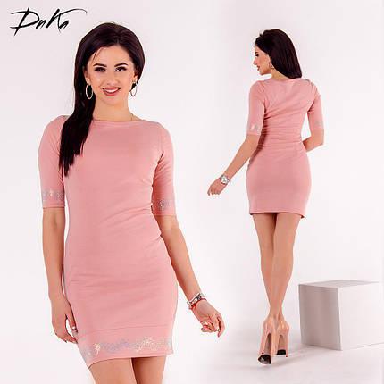 ДС440/1 Платье мини с отделкой, фото 2