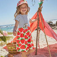 Jumping Meters летнее платье для девочки Strawberry. Размер  6 лет