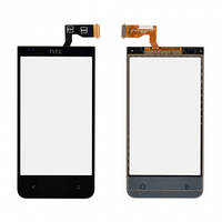 Сенсорний екран для смартфону HTC Desire 300, Desire 301e, тачскрін чорний