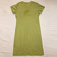Хлопковое платье, р.54-56 с вышивкой на груди