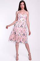 Красивое коктейльное платье из сетки