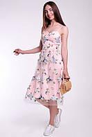 Красивое женское коктейльное платье из сетки, фото 2