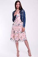 Красивое женское коктейльное платье из сетки, фото 3
