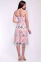 Красивое женское коктейльное платье из сетки, фото 4