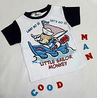 """Футболка детская """"Sailor"""", размер 1-4 года, белый"""