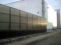 Заборы, Ограждения, Шумозащитные заборы из поликарбоната