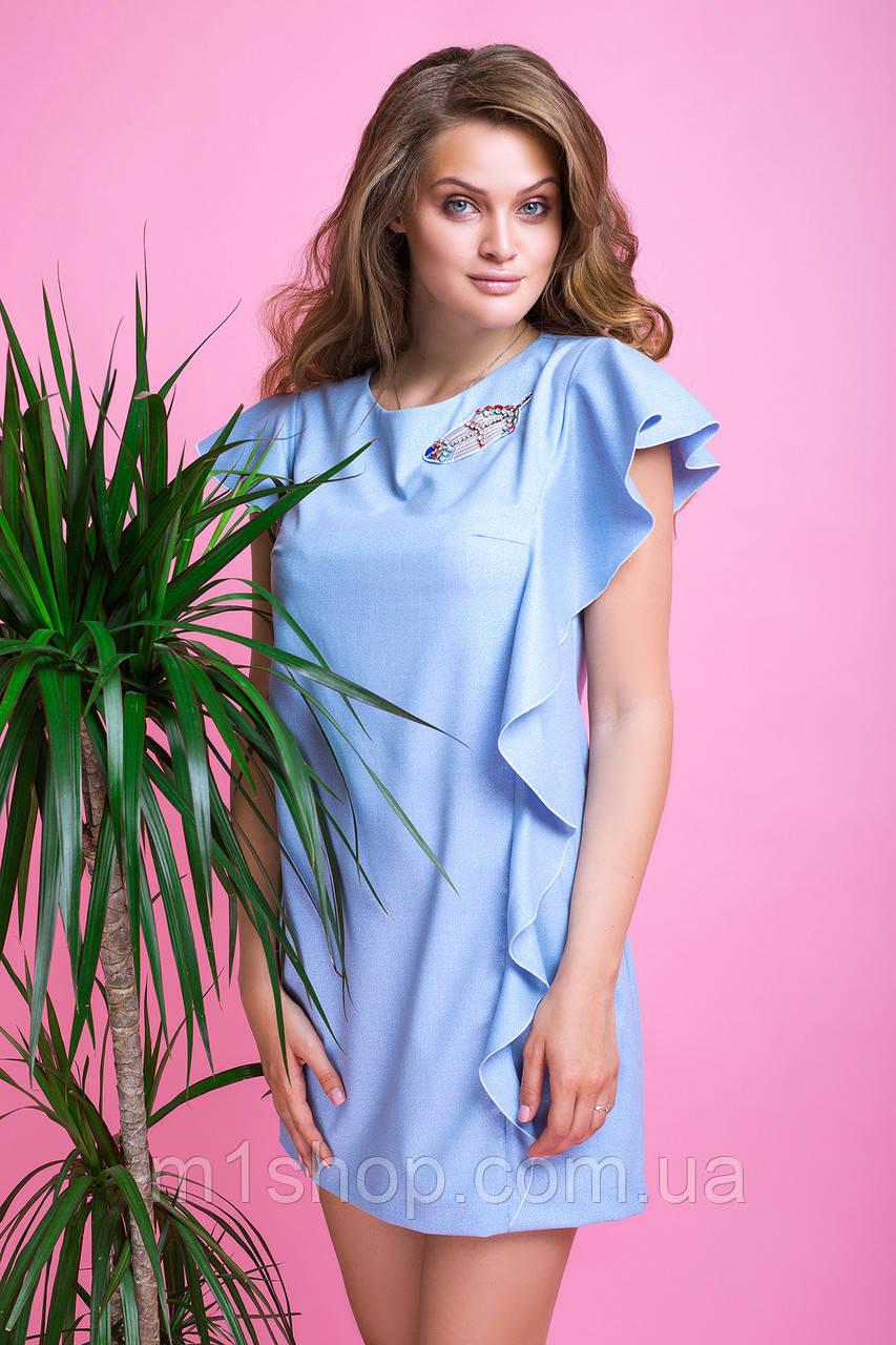 Женское летнее платье со стразами и воланами (Шейла lzn)