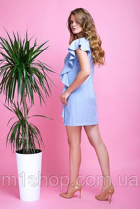 Женское летнее платье со стразами и воланами (Шейла lzn), фото 2