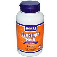Очанка 410 мг  100 капс воспаление глаз глазные болезни  NOW Foods USA