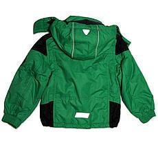 Термо куртка демисезонная для мальчика 5 лет на флисе зеленая, фото 3