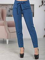 Брюки с высокой талией в цвете джинс, фото 1