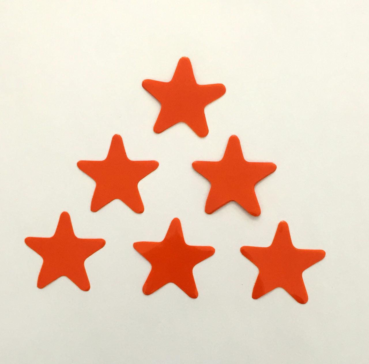 Конфетти звездочки оранжевые, 50 грамм