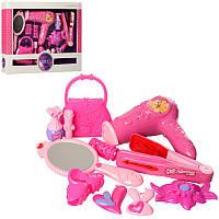 Детский набор парикмахера и других акссесуаров для девочки, фен, сумочка, плойка, бигуди, 998A-11