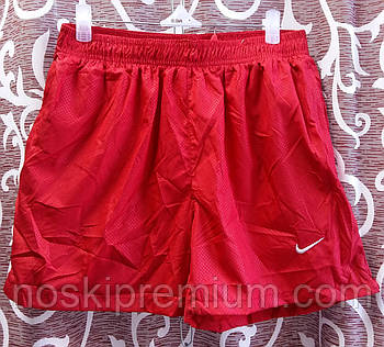Шорты мужские спортивные Nike, размеры M-3XL, красные, 8807