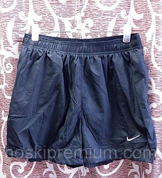 Шорты мужские спортивные Nike, размеры M-3XL, тёмно-синие, 8807