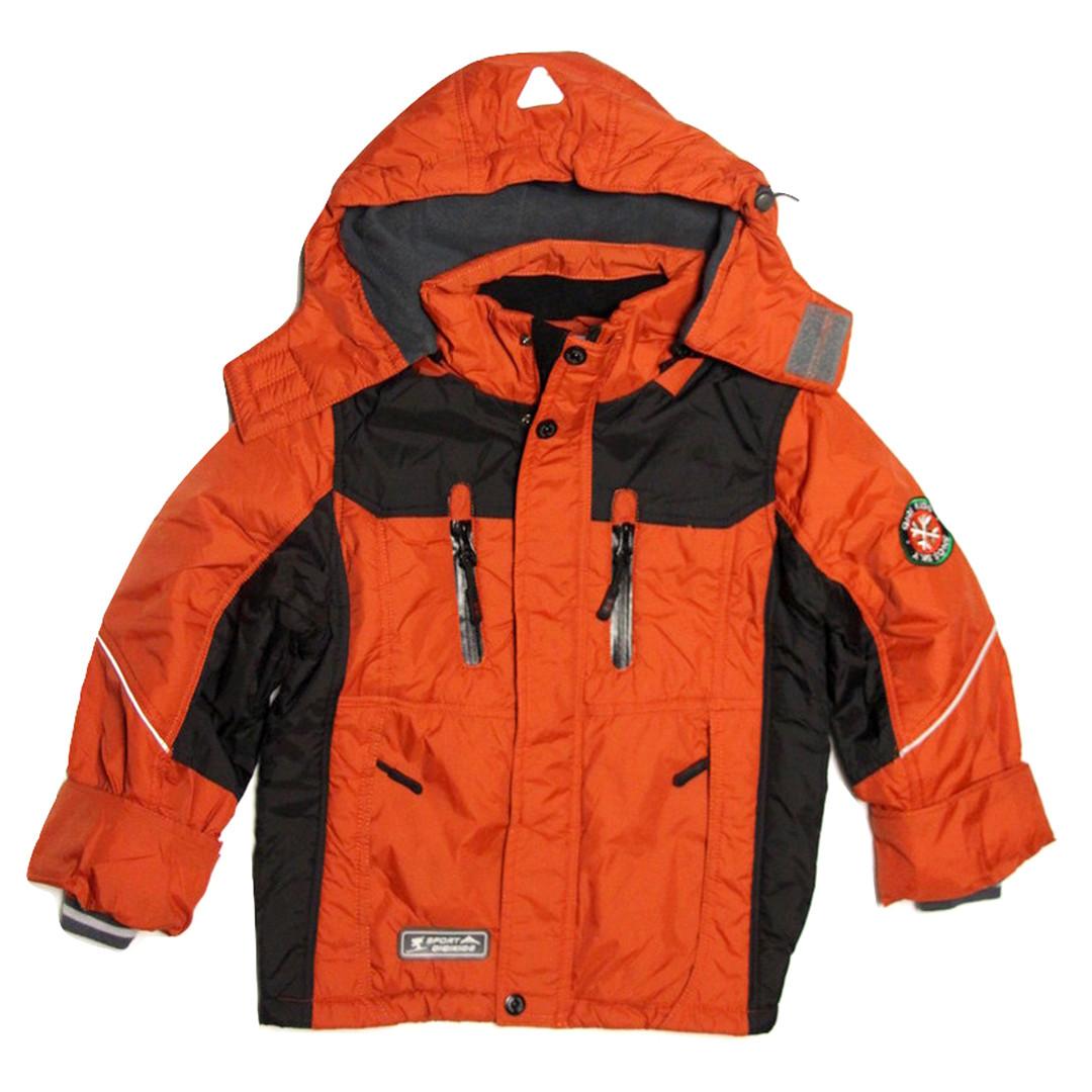 Термо куртка демисезонная для мальчика 5 лет на флисе терракотовая