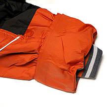 Термо куртка демисезонная для мальчика 5 лет на флисе терракотовая, фото 3