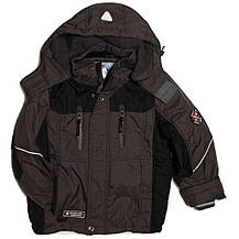 Детская демисезонная курточка для мальчика 4-6 лет на флисе серая, фото 3
