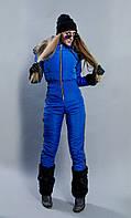 Лыжный зимний комбинезон женский синий
