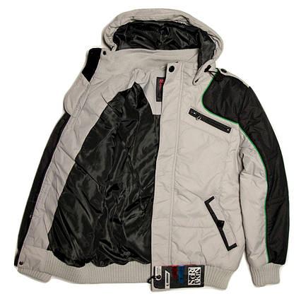 Стильная куртка для мальчика Skorpian для мальчика 134-140 рост серая, фото 2