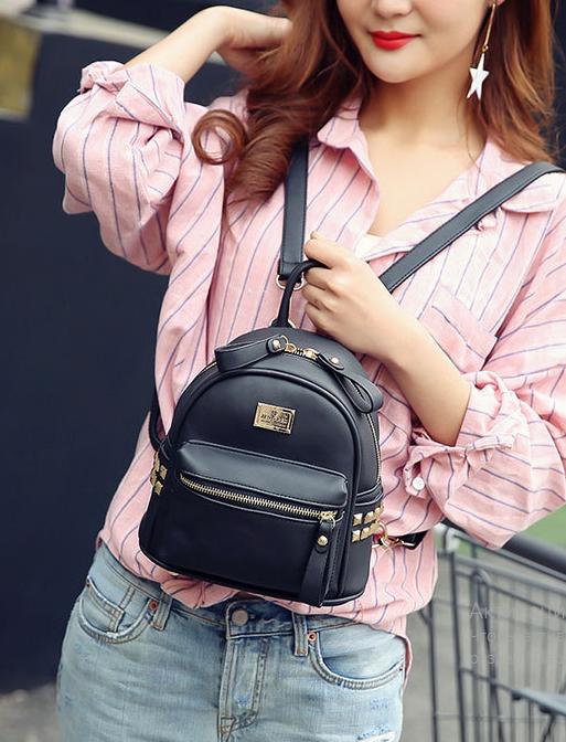 мини-рюкзак чёрный