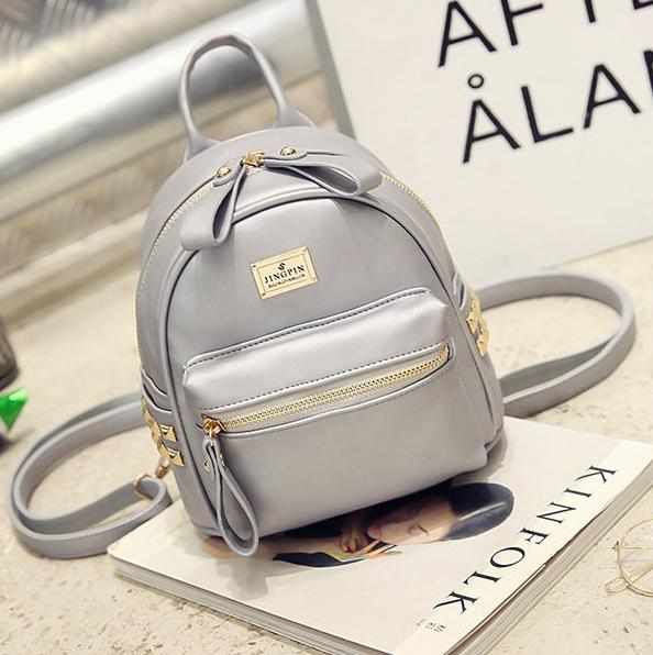 мини-рюкзак женский бежевый