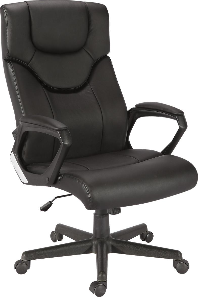 Кресло Глостер кожзаменитель чёрный.